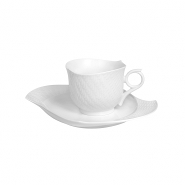 """Набор для завтрака: чайная чашка с блюдом """" Waves"""""""