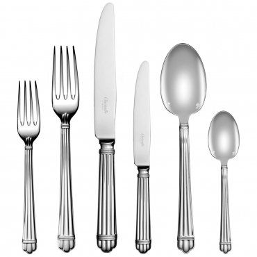 """Набор столовых и закусочных приборов на 6 персон """"Aria"""", 36 предметов, посеребреный"""
