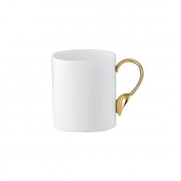 """Кружка овальная с золотой ручкой """"Cutlery"""", h 10 см"""