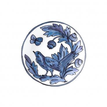 """Набор из двух пирожковых тарелок """"Синяя птица"""", d 18 см"""