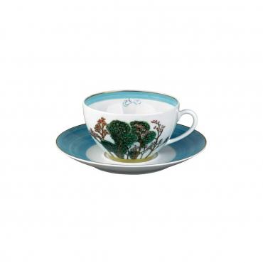 """Блюдце под чашку для чая """"Jardins"""" (чашка отдельно)"""