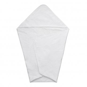 """Полотенце с уголком и ручной вышивкой """"Lino Nuvola"""", белое, 75х75 см"""