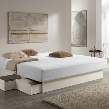 """Простыня белая """"Bella Donna"""", джерси, 140x200-160x200 см"""