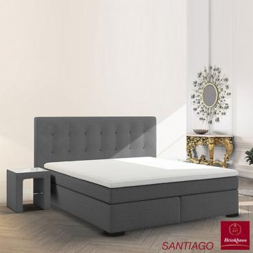 """Кровать с мягким изголовьем на деревянном каркасе """"Самнаун"""", 180х200 см"""