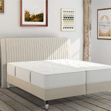 """Кровать с мягким изголовьем на деревянном каркасе """"Сарагоса"""", 180х200 см"""