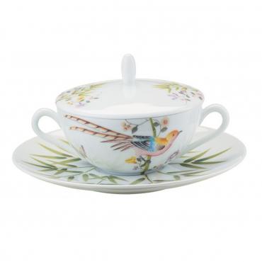 """Крышка на тарелку для супа """"Paradis"""", d 17 см, (тарелка отдельно)"""