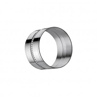 """Кольцо для салфетки """"Perles"""", посеребрение, h 3 см"""