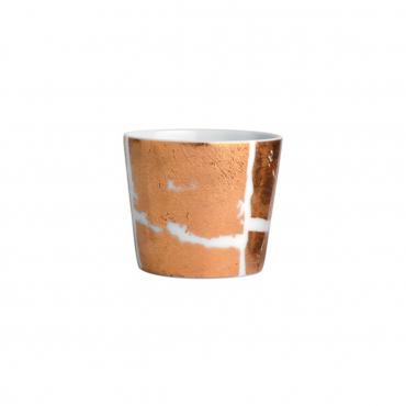 """Пиала """"Feuille """", инкрустированная золотом, v 0,14 л"""