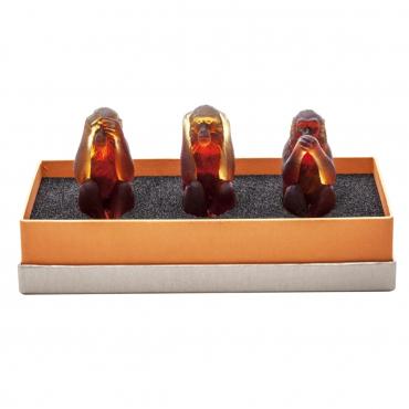 "Набор из трех статуэток ""Monkey"", h 10 см"