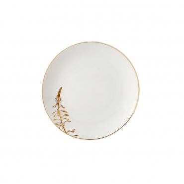 """Пирожковая тарелка """"Золотые растения"""", d 16 см"""