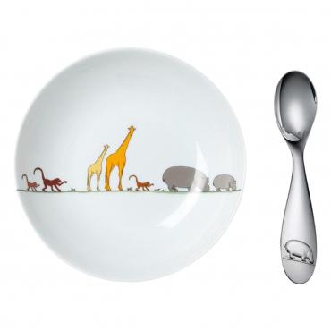"""Детская тарелка и ложечка """"Savannah"""", l 13 см"""