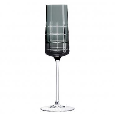 """Набор из двух серых бокалов для шампанского """"Графика"""", h 22 см"""