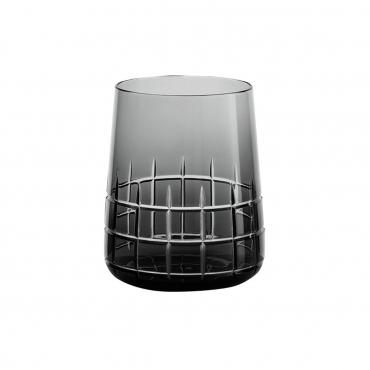 """Набор из двух серых стаканов для воды """"Графика"""", h 9,8 см"""
