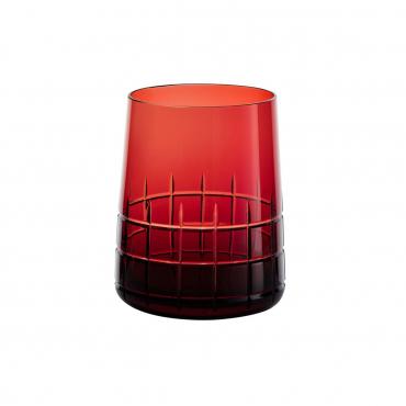 """Набор из двух красных стаканов для воды """"Графика"""", h 9,8 см"""