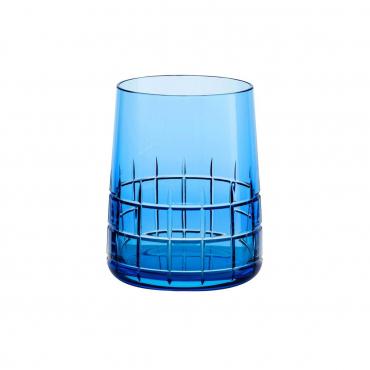 """Набор из двух голубых стаканов для воды """"Графика"""", h 9,8 см"""