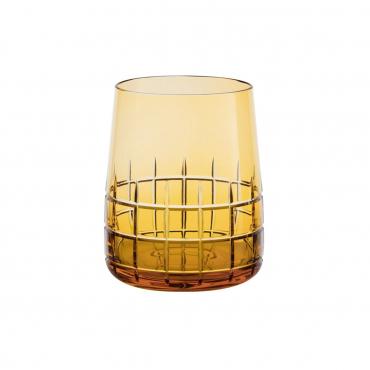 """Набор из двух желтых стаканов для воды """"Графика"""", h 9,8 см"""