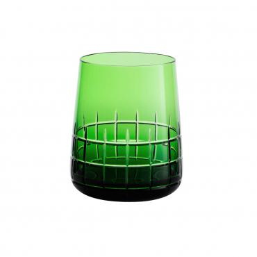 """Набор из двух зеленых стаканов для воды """"Графика"""", h 9,8 см"""