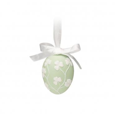 """Пасхальное украшение """"Egg"""", зеленое, h 6.5 см"""