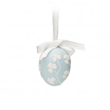 """Пасхальное украшение """"Egg"""", голубое, h 6.5 см"""