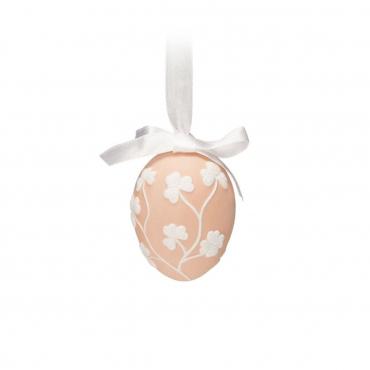 """Пасхальное украшение """"Egg"""", розовое, h 6.5 см"""