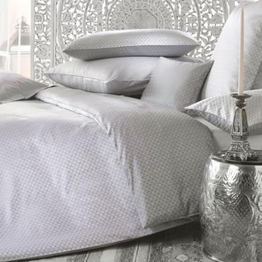 """Комплект постельного белья """"Alisar"""", серый, дамаст, евростандарт"""