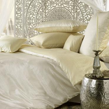 """Комплект постельного белья """"Alisar"""", бежевый, дамаст, евростандарт"""