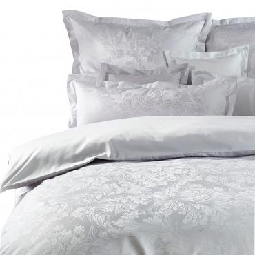 """Комплект постельного белья """"Akanthus"""", серый, дамаст, евростандарт"""