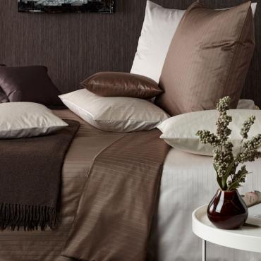 """Комплект постельного белья """"Ferrara"""", коричневый, дамаст, евростандарт"""