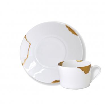 """Набор из двух чашек с блюдцами """"Kintsugi Sarkis"""", d 18,5 см"""