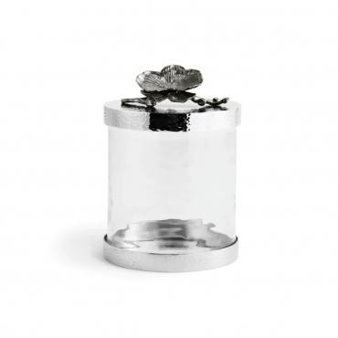 """Емкость для хранения """"Black Orchid"""", черная с позолотой, h 21,5 см"""