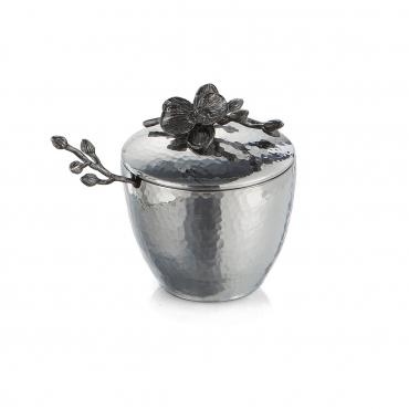 "Сахарница с ложкой ""Black Orchid"", h 11 см"