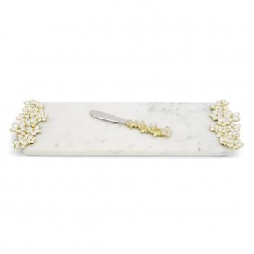 "Плато для сыра с ножем ""Cherry Blossom"", 44х15 см"