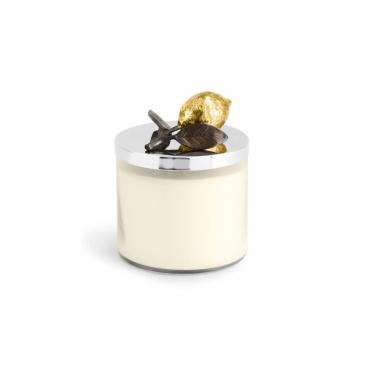 """Аромасвеча в стеклянном футляре с крышкой """"Lemon Forest Candle"""", h 11,5 см"""