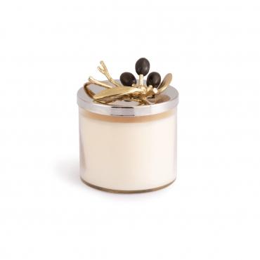 """Аромасвеча в стеклянном футляре с крышкой """"Olive Candle"""", h 12 см"""