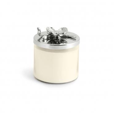 """Аромасвеча в стеклянном футляре с крышкой """"Белая орхидея"""", h 11,5 см"""