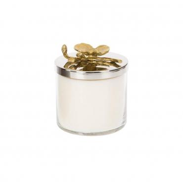 """Аромасвеча в стеклянном футляре с крышкой """"Golden Orchid"""", h 12 cм"""