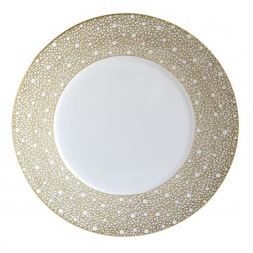 """Подстановочная тарелка """"Ecume"""", инкрустированная золотом, d 29,5 см"""