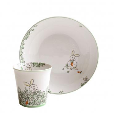 """Набор детский """"Petit Boulingrin"""": тарелка для супа и чашка"""