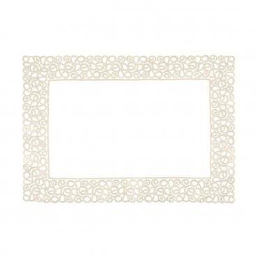 """Плейсмат льняной с кружевным кантом """"Florence"""", серый, 38x55 см"""