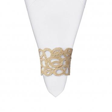 """Кольцо для салфетки кружевное """"Florence"""", d 6 см (салфетка отдельно)"""