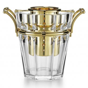 """Ведерко для шампанского с позолоченными элементами """"Аркур"""", h 24 cм"""