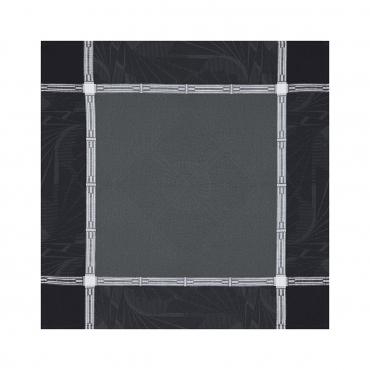 """Салфетка из хлопкового жаккарда """"Дворец"""", черная, 58X58 см"""