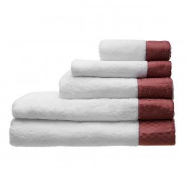 """Набор из пяти полотенец c жаккардовым кантом """"Towels"""", col.018"""