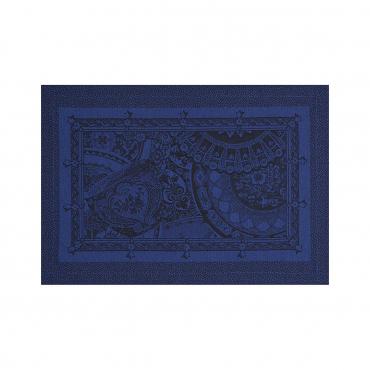 """Плейсмат из хлопкового жаккарда """"Porcelaine"""", темно-синий, 50X36 см"""