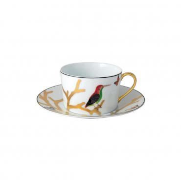"""Чайный набор """"Птицы"""": две чашки с блюдцами"""
