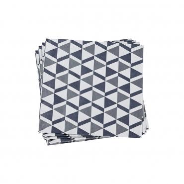 """Набор из двух0 бумажных серых салфеток """"Бистроном"""" 40X40 см"""