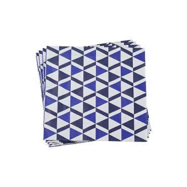 """Набор из двух0 бумажных синих салфеток """"Бистроном"""" 40X40 см"""