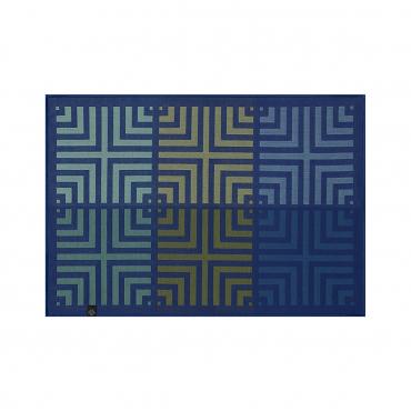 """Плейсмат из хлопкового жаккарда """"Kaleidoscope"""", синий, 50X36 см"""