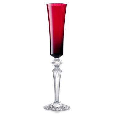 """Набор из двух красных бокалов для шампанского """"Mille Nuits """", h 29 см"""