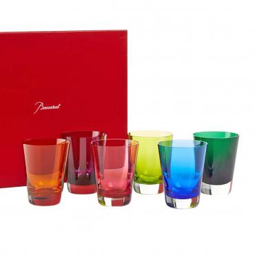 """Набор из шести разноцветных стаканов """"Мозаика"""", h 10 см"""